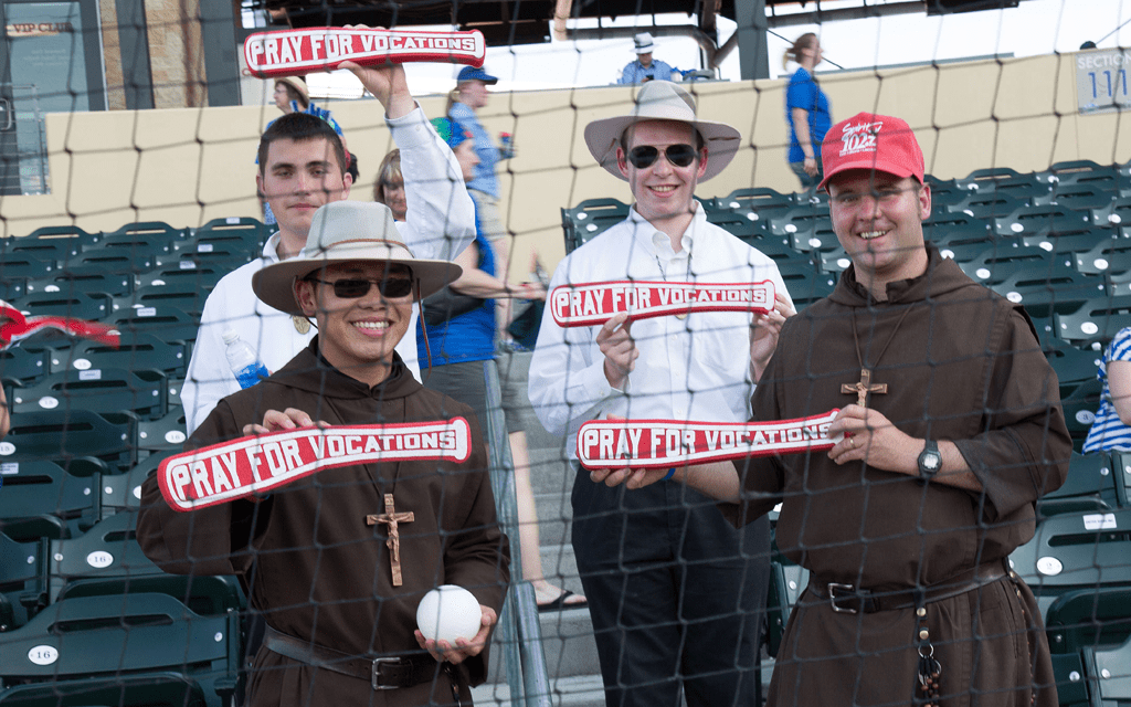 Serra USA members captured this photo at this event to support vocations.